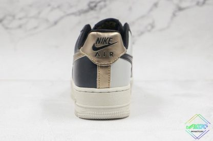 Air Force 1 Low Metallic Cool Grey back heel