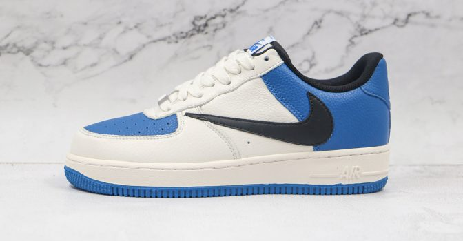 Air Force 1 Low White Blue Upside Down Swoosh