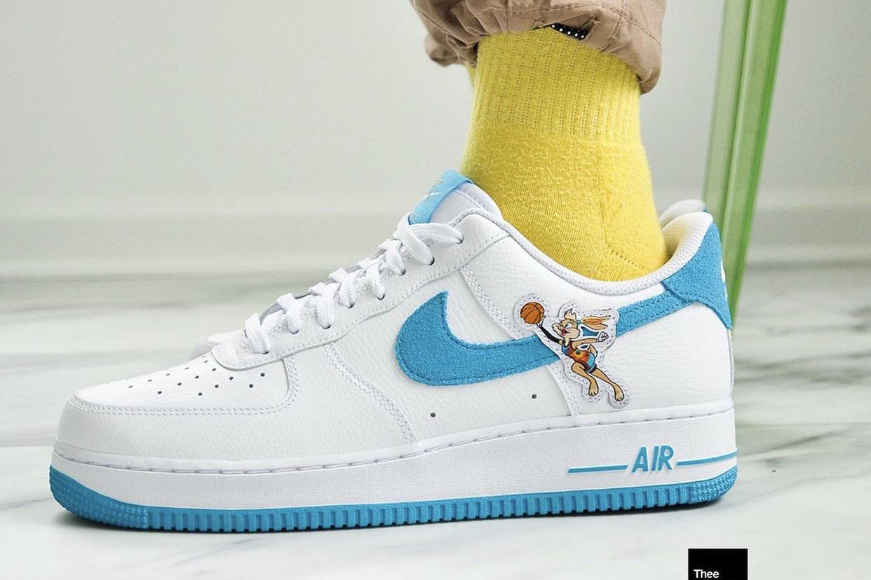 Nike Air Force 1 Low Hare Bugs Lola Bunny on feet