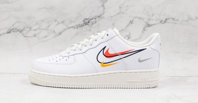 Nike Air Force 1 Low White Multi-Swoosh
