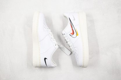 Nike Air Force 1 Low White Multi-Swoosh lateral side