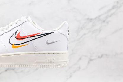 Nike Air Force 1 Low White Multi-Swoosh look