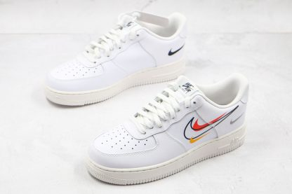 Nike Air Force 1 Low White Multi-Swoosh medial side