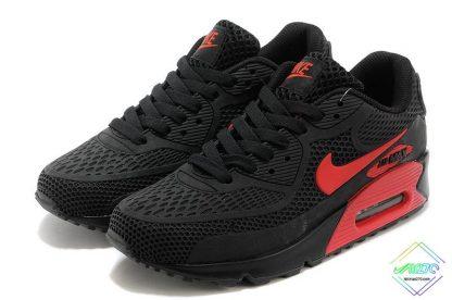 Nike Air Max 90 Disu Black Gym Red back heel logo