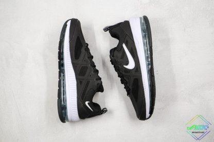 Mens Size Nike Air Max Genome Black White sides