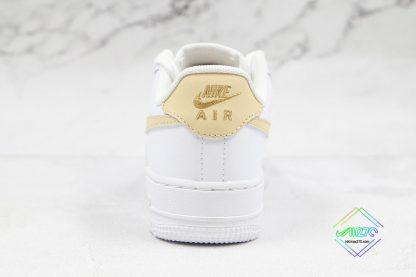 Nike Air Force 1 07 ESS White Gold heel