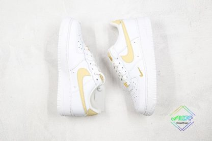 Nike Air Force 1 07 ESS White Gold shoes