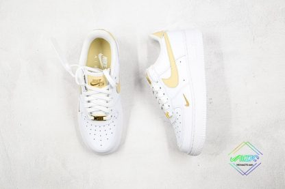 Nike Air Force 1 07 ESS White Gold tongue
