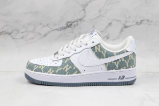 Nike Air Force 1 07 White Blue with NY Logo