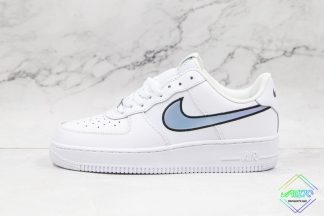 Nike Air Force 1 Blue Iridescent Swooshes