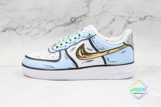 Nike Air Force 1 Low Frozen Blue Gold