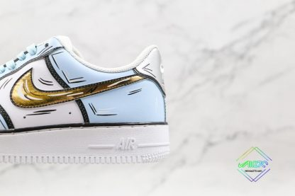 Nike Air Force 1 Low Frozen Blue Gold panling