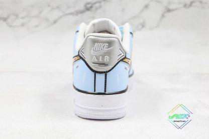 Nike Air Force 1 Low Frozen Blue Gold silver heel