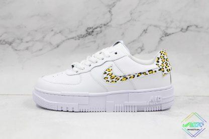 Nike Air Force 1 Pixel Neon Leopard Print