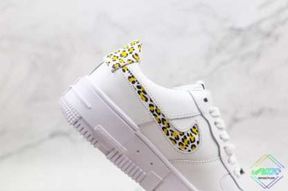 Nike Air Force 1 Pixel Neon Leopard Print lateral side