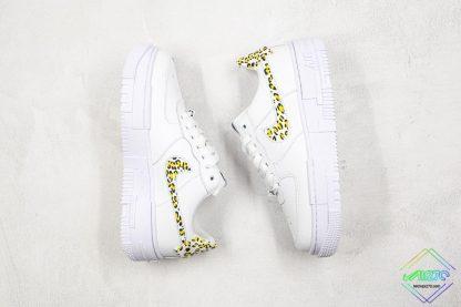 Nike Air Force 1 Pixel Neon Leopard Print swoosh