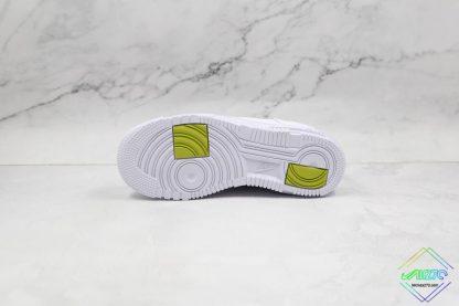 Nike Air Force 1 Pixel Neon Leopard Print underfoot