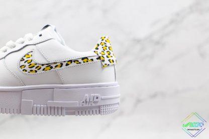 Nike Air Force 1 Pixel Neon Leopard Print yellow