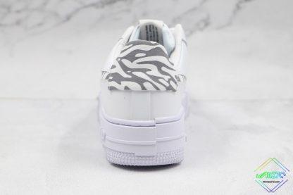 Nike Air Force 1 Pixel Zebra Print heel