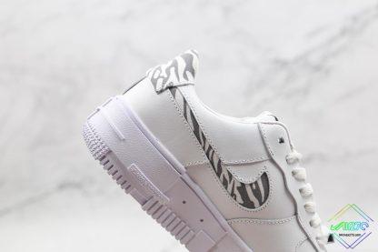 Nike Air Force 1 Pixel Zebra Print lateral cut-out swoosh