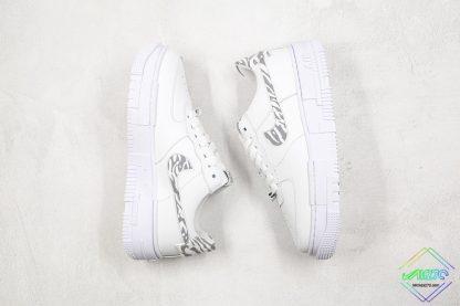 Nike Air Force 1 Pixel Zebra Print swoosh