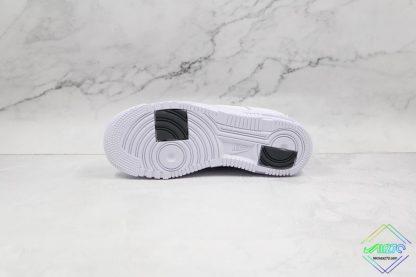 Nike Air Force 1 Pixel Zebra Print underfoot