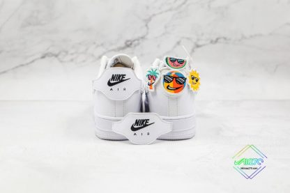 Nike Air Force 1 White Have Some Fun back heel