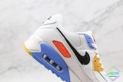 Nike Air Max 90 Pure Platinum Solar Flare lateral side