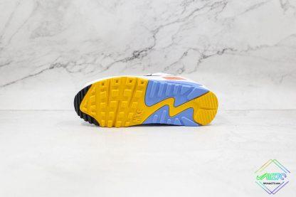 Nike Air Max 90 Pure Platinum Solar Flare underfoot