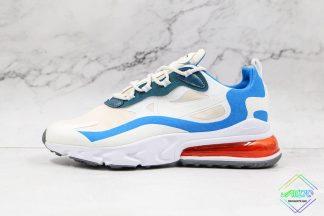 Nike Air Max React 270 White Blue Orange