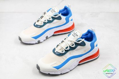 Nike Air Max React 270 White Blue Orange overall