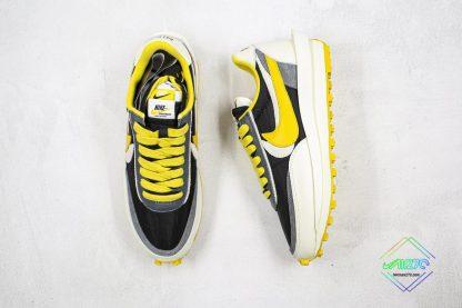 Undercover x Sacai x Nike LDWaffle Bright Citron tongue