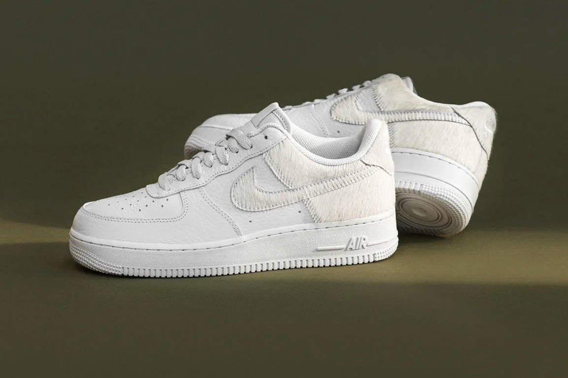 White Air Force 1 With Pony Hair