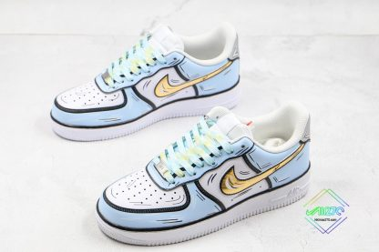 overall Nike Air Force 1 Low Frozen Blue Gold