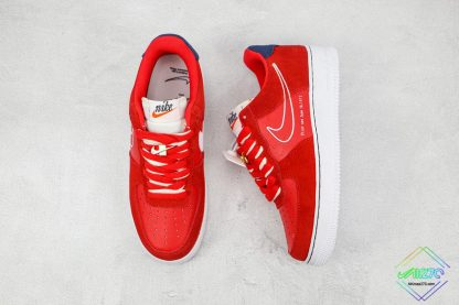 Air Force 1 Low Nike First Use University Red tongu