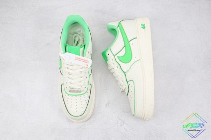 Air Force 1 Low Nike White Candy Green tongue