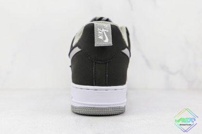 Air Force 1 Shadow Black Shadow Grey heel