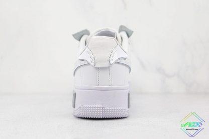 Nike Air Force 1 Fontanka White Silver heel
