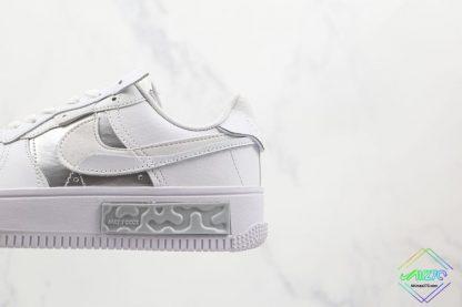 Nike Air Force 1 Fontanka White Silver lateral side