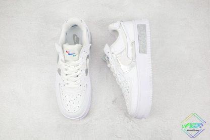 Nike Air Force 1 Fontanka White Silver mini swoosh