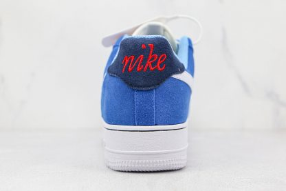 Nike Air Force 1 Low First Use University Blue red heel