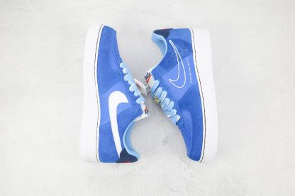 Nike Air Force 1 Low First Use University Blue white swoosh