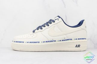 Nike Air Force 1 Low I am uninterrupted White Navy Blue
