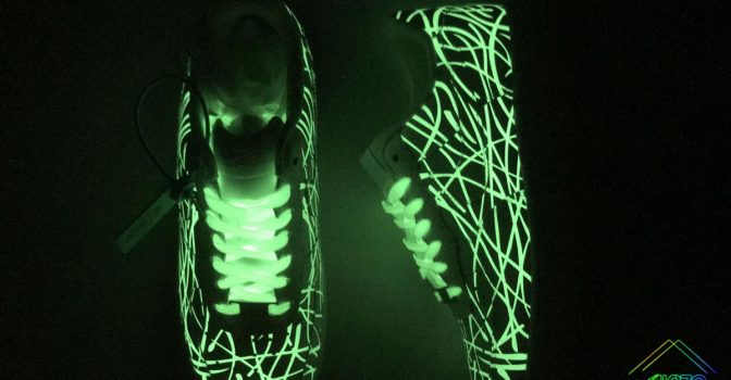 Nike Air Force 1 Low White Glow In The Dark Green