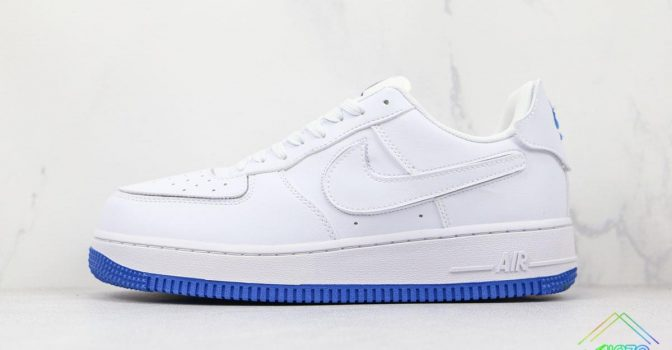 Nike Air Force 1 Sapphire Blue Interchangeable Swooshes