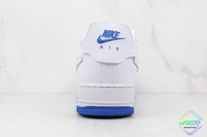 Nike Air Force 1 Sapphire Blue Interchangeable Swooshes back heel