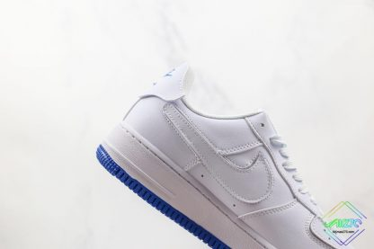 Nike Air Force 1 Sapphire Blue Interchangeable Swooshes lateral side