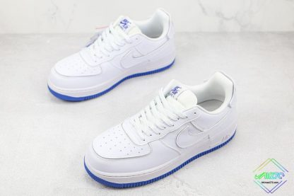 Nike Air Force 1 Sapphire Blue Interchangeable Swooshes overall