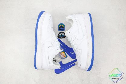 Nike Air Force 1 Sapphire Blue Interchangeable Swooshes shoes