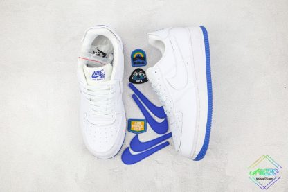 Nike Air Force 1 Sapphire Blue Interchangeable Swooshes tongue